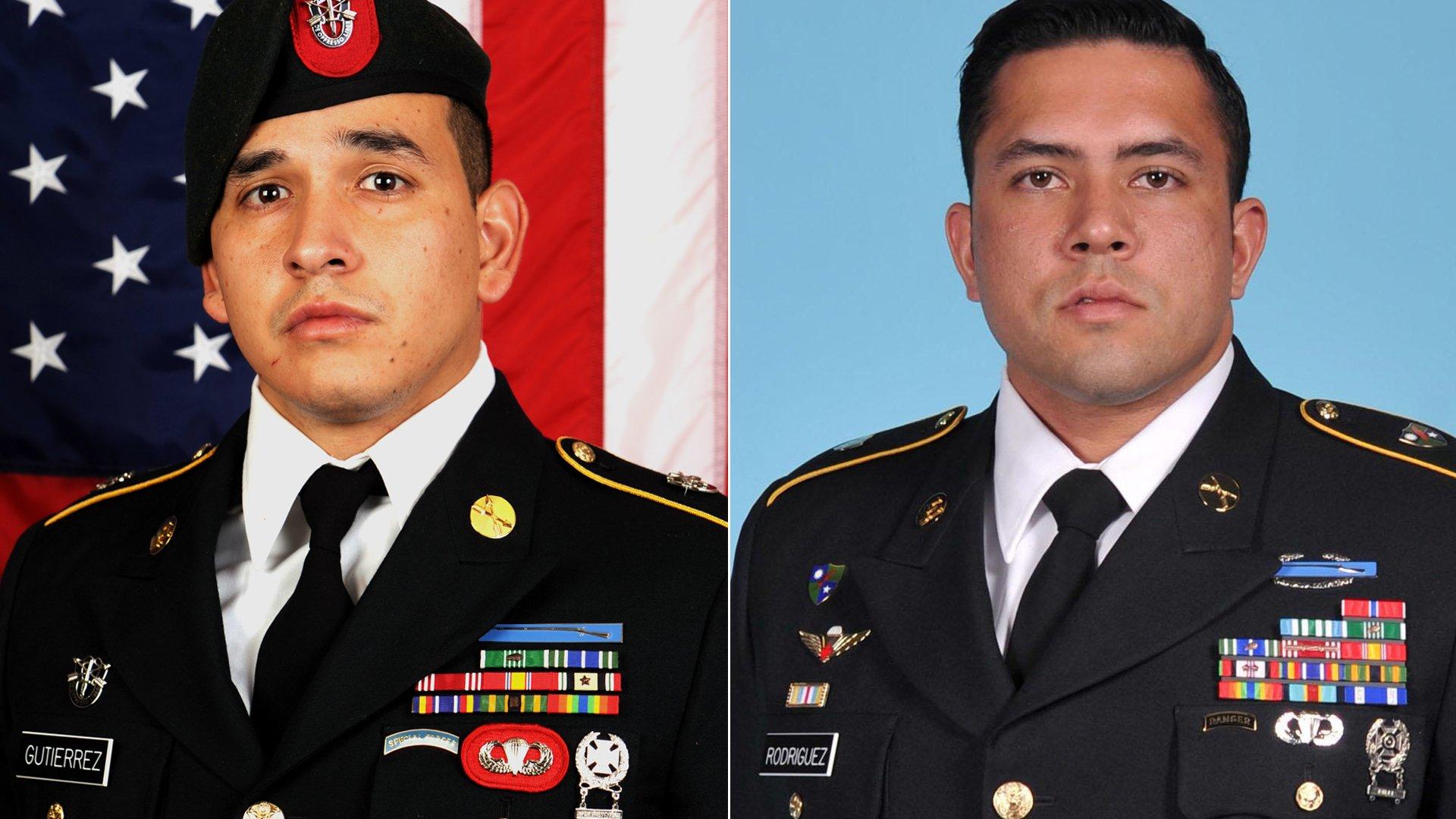 Javier Jaguar Gutierrez and Antonio Rey Rodriguez appear in photos released by the U.S. Department of Defense on Feb. 9, 2020.