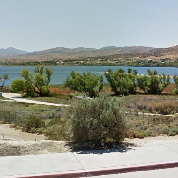 A portion of Lake Palmdale is seen in this image from Google Maps.