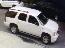 A GMC Yukon involved in the robbery of a letter carrier in Woodland Hills on Jan. 25, 2020, is seen in an image released Feb. 7, 2020, by the U.S. Postal Inspection Service.