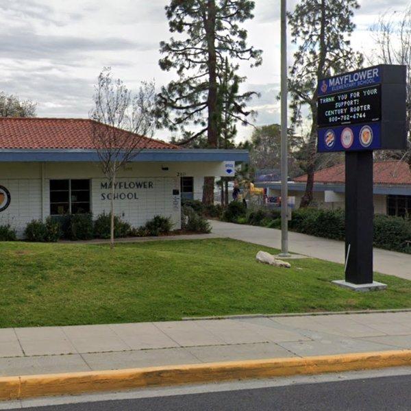 Mayflower Elementary School is seen in an image taken from Google Maps.