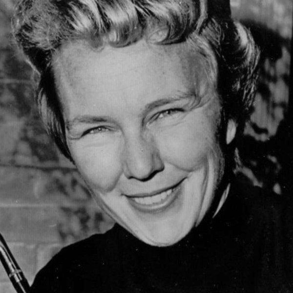 Mickey Wright appears in a public domain photo taken in 1965.