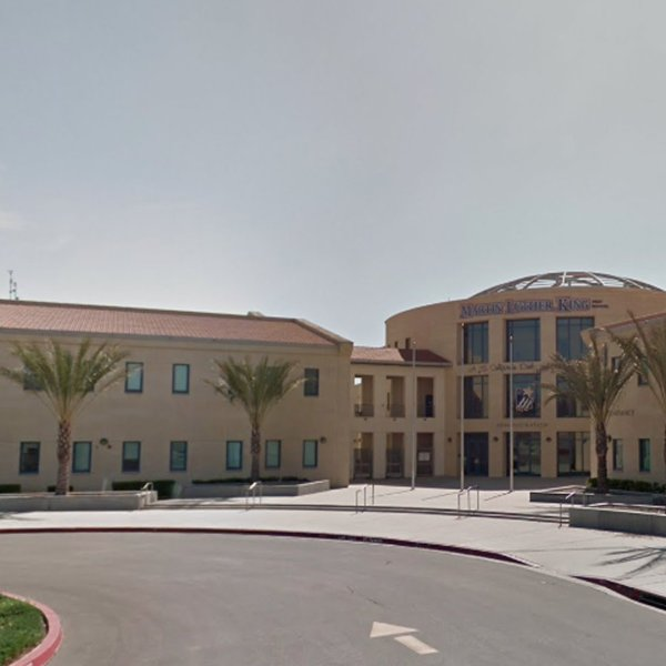 Martin Luther King High School in Riverside is seen in a Google Maps Street View image.