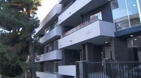 Residents of a Hollywood apartment building say several people have become sick from black mold. (Credit: KTLA)