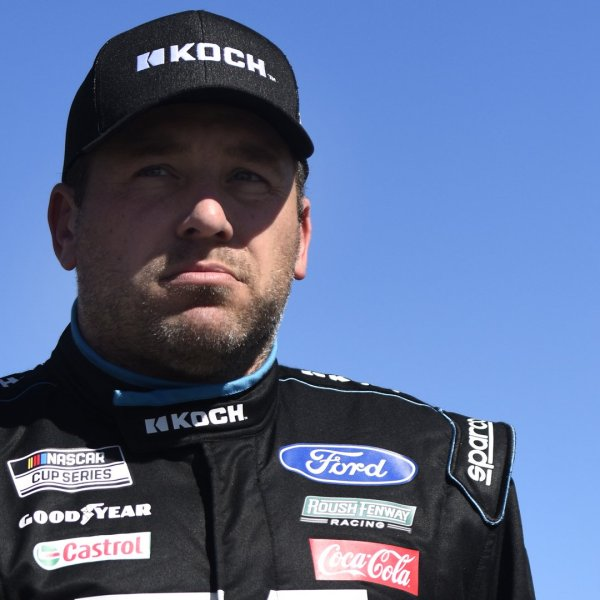 Ryan Newman, driver of the #6 Koch Industries Ford, walks on the grid during qualifying for the NASCAR Cup Series 62nd Annual Daytona 500 at Daytona International Speedway on Feb. 09, 2020 in Daytona Beach, Florida. (Credit: Jared C. Tilton/Getty Images)