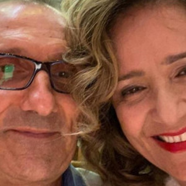Mohammad and Farah Toutounchian are seen aboard the cruise ship Diamond Princess in an image Farah provided to the Orange County Register on Feb. 11, 2020.