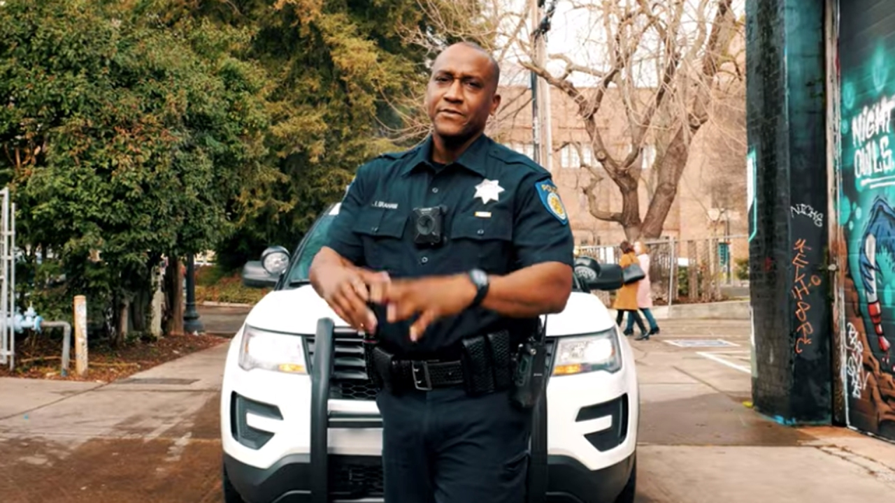 Grammy-nominated police officer raps for Sacramento department's recruitment video