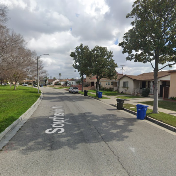 The 6000 block of Southside Drive in East Los Angeles is seen in an image from Google Maps.