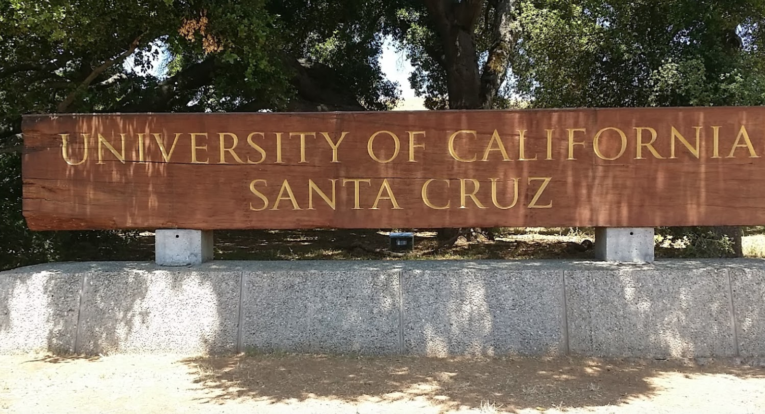 The University of California, Santa Cruz, is seen in a Google Maps Street View image.