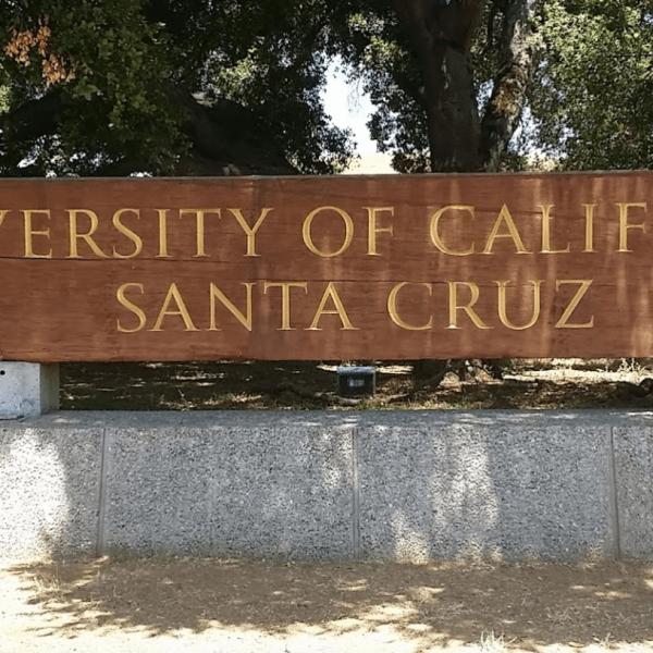 The University of California, Santa Cruz, is seen in a Google Maps Street View image.