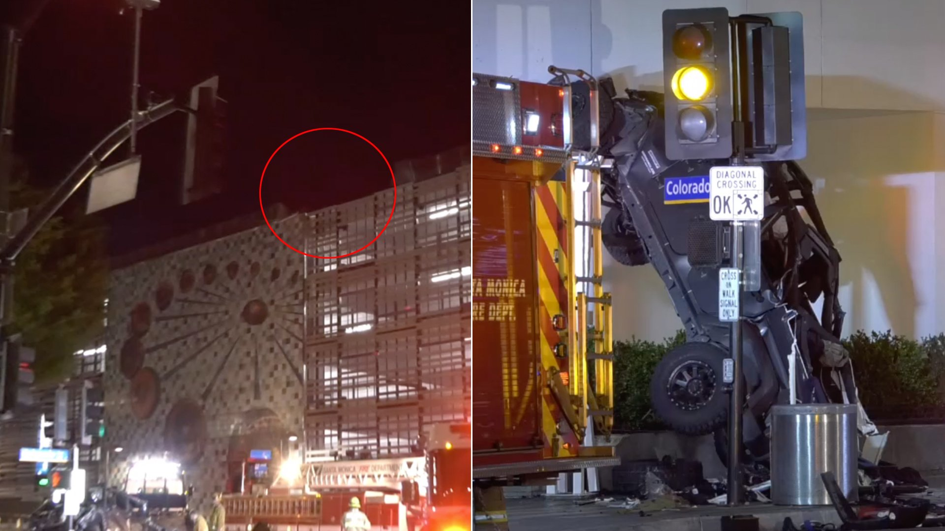 Driver Survives After Jeep Plunges Off 6th Floor Of Santa Monica