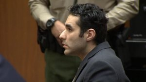 Henry Solis appears in a downtown Los Angeles courtroom as he's convicted in a murder case on Feb. 5, 2020. (Credit: KTLA)