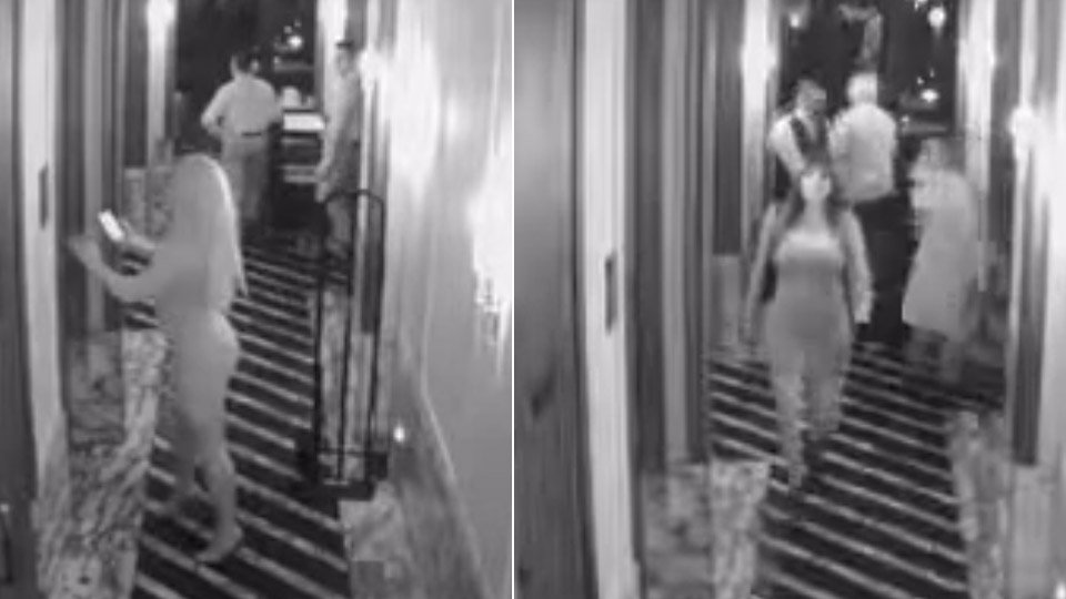 Surveillance video shows two women who police say made off with expensive wrist watches. (Credit: Los Angeles Police Department)
