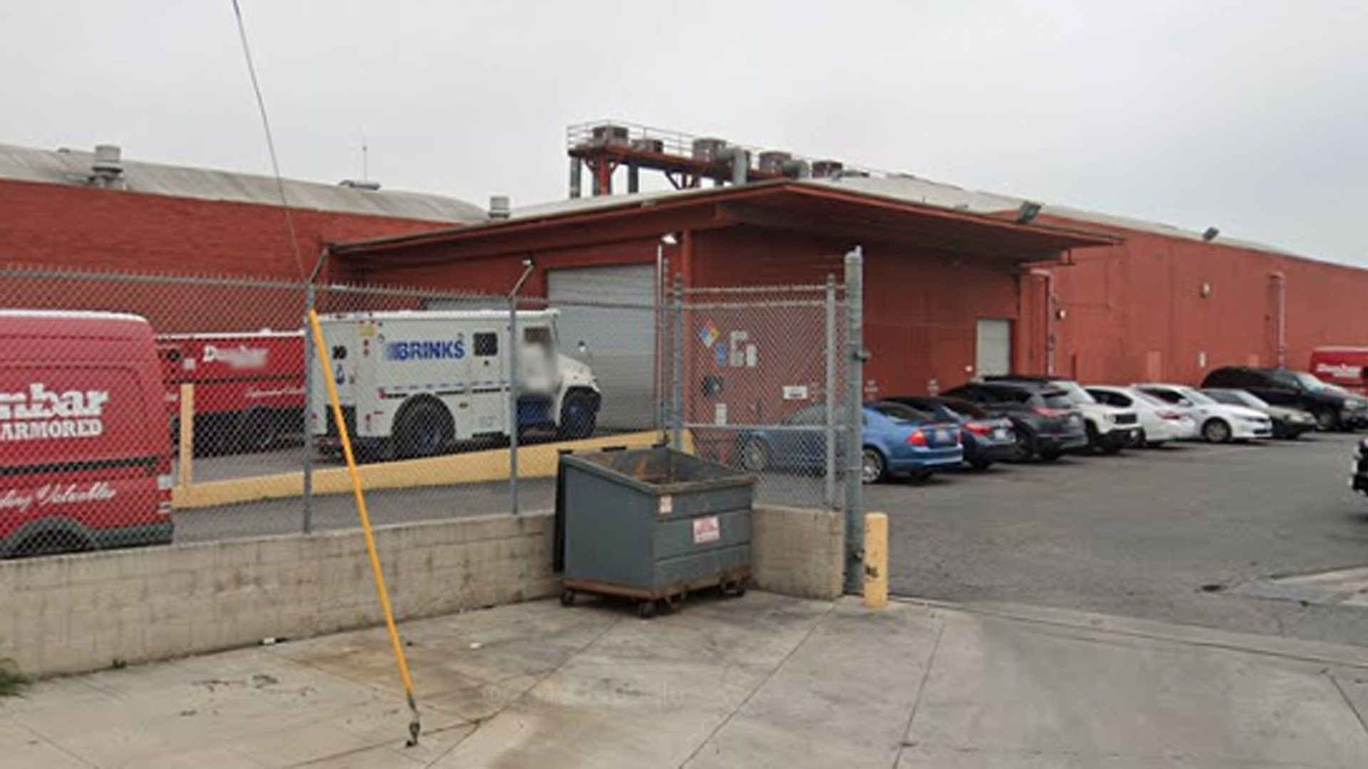 The Dunbar Armored storage facility in Vernon is seen in a Google Maps Street View image.