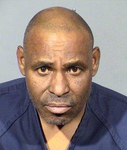 Gary Walker is seen in a booking photo released by the Las Vegas Metropolitan Police Department.