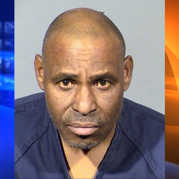 Gary Walker is seen in a booking photo released by the Las Vegas Metropolitan Police Department.