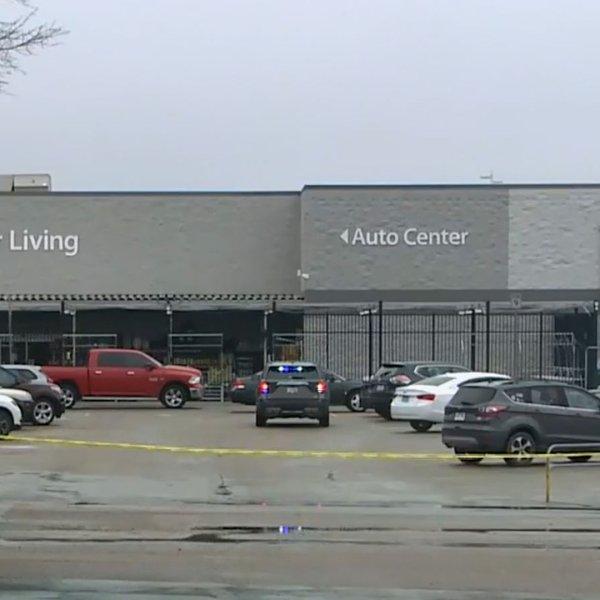 Police tape is seen outside the Walmart in Forrest City, Arkansas, on Feb. 10, 2020. (Credit: WREG)