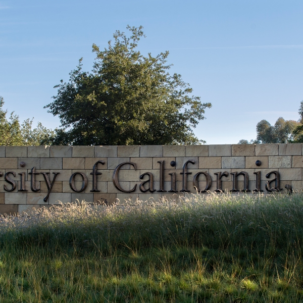 A sign that reads University of California Irvine appears in an image posted on the school's Flickr page on Nov. 23, 2016. (Steve Zylius/UC Irvine)