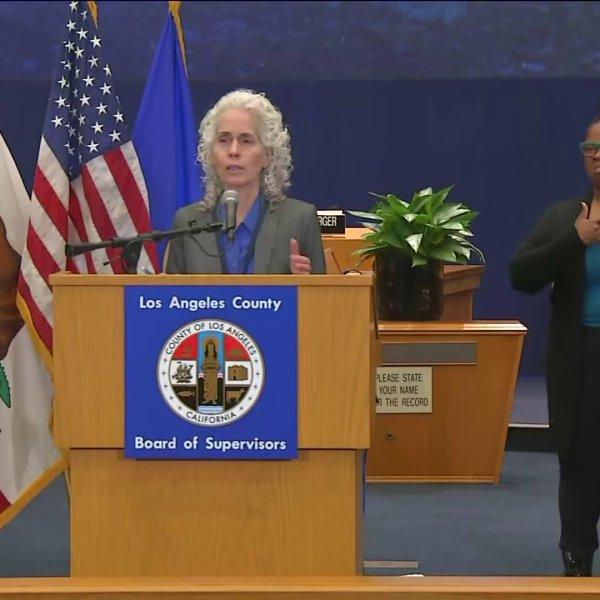 L.A. County public health director Barbara Ferrer speaks on March 27, 2020. (Pool)