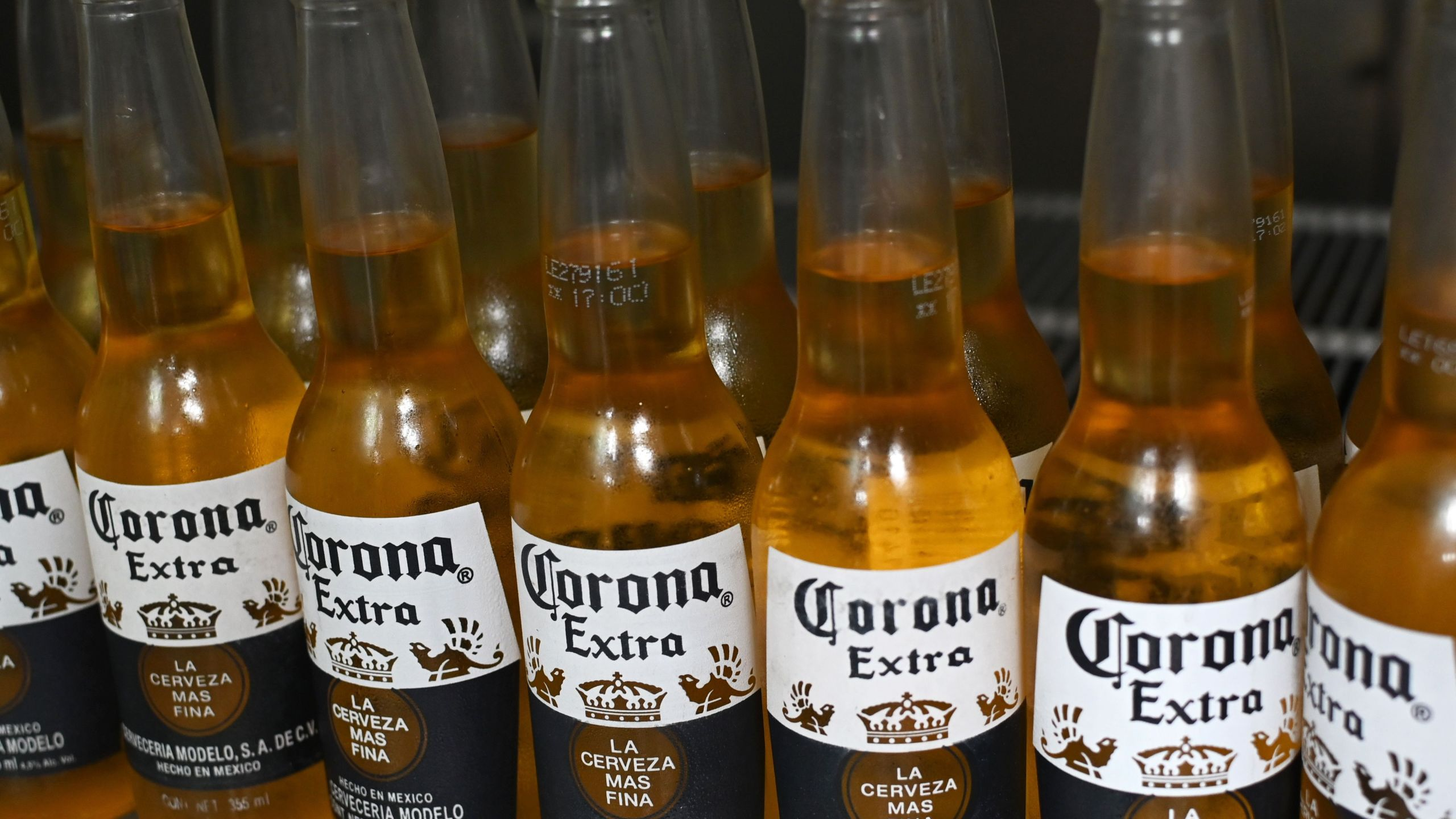 Bottles of Corona beer are seen in Mexico City on June 4, 2019. (Credit: Rodrigo Arangua / AFP / Getty Images)