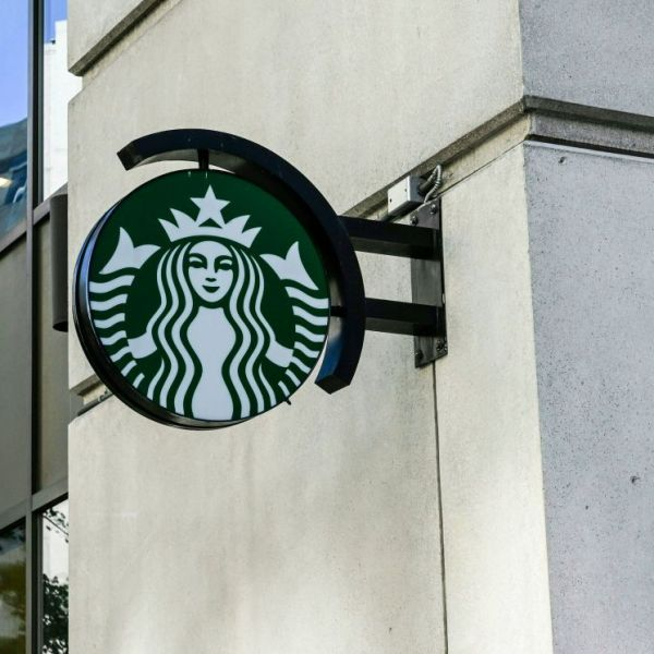 A file photo shows the Starbucks logo. (EVA HAMBACH/AFP via Getty Images)