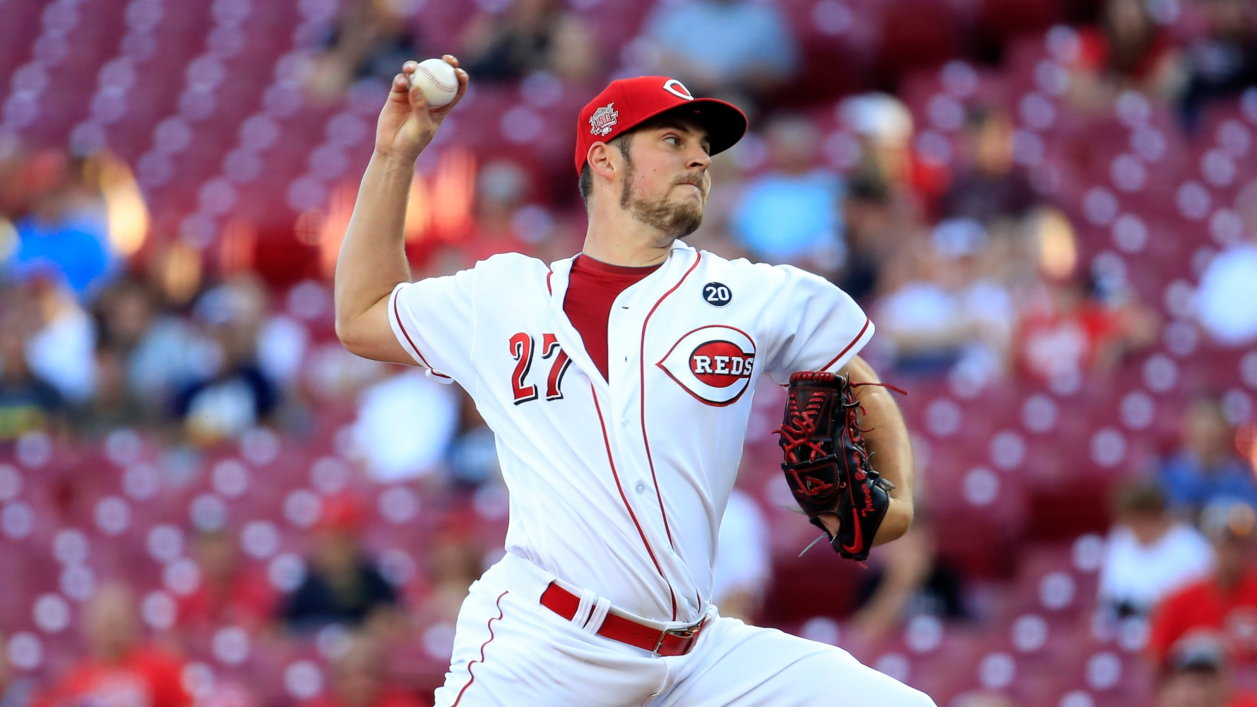 Trevor Bauer of the Cincinnati Reds throws a pitch against the Philadelphia Phillies at Great American Ball Park on Sept. 04, 2019, in Cincinnati, Ohio. (Andy Lyons/Getty Images)