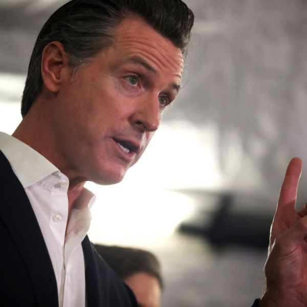 Gov. Gavin Newsom speaks during a a news conference in Oakland on Jan. 16, 2020. (Credit: Justin Sullivan / Getty Images)