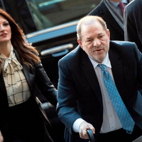 Harvey Weinstein arrives at the Manhattan Criminal Court, on Feb. 24, 2020, in New York City. (JOHANNES EISELE/AFP via Getty Images)