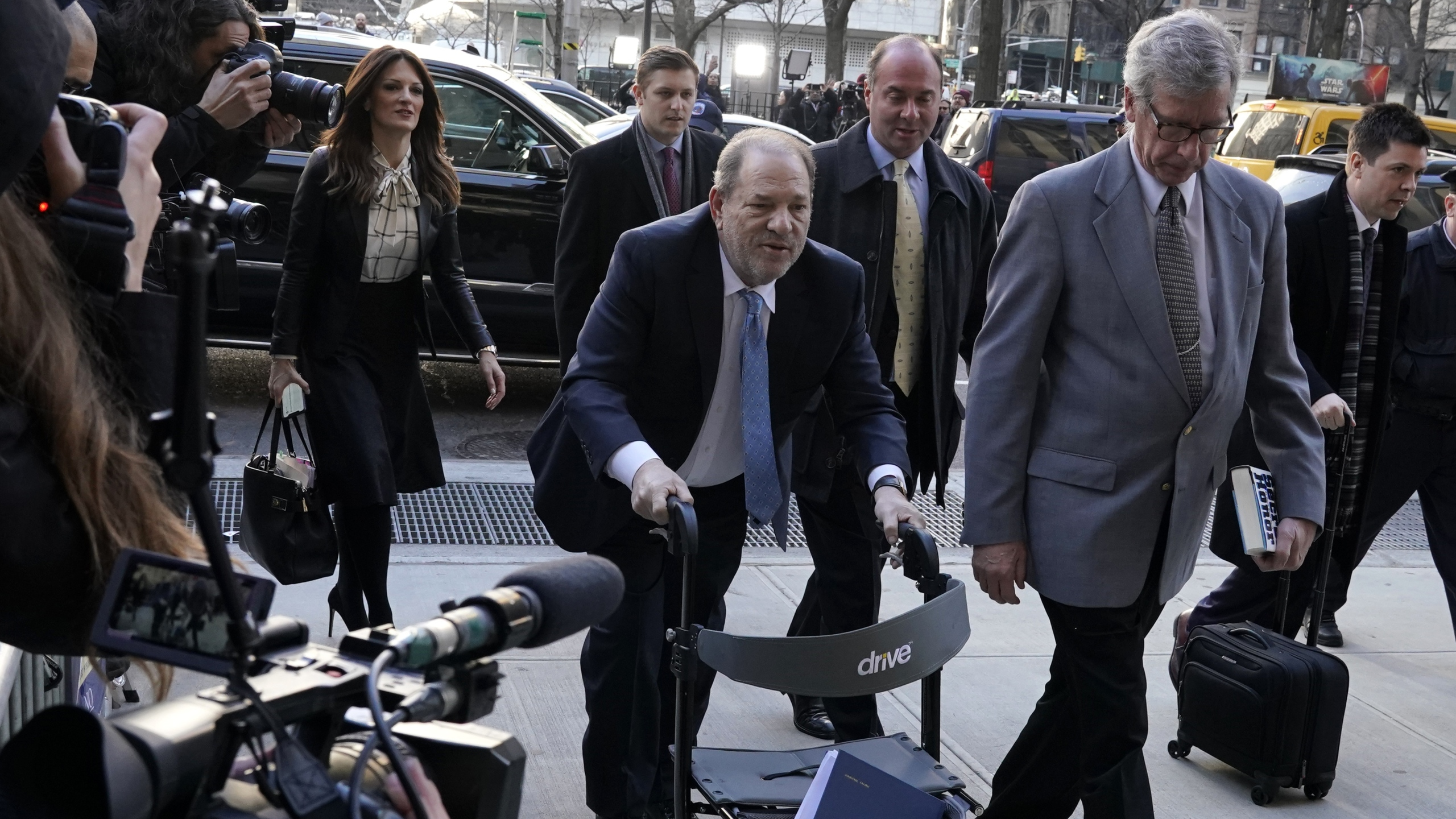 Harvey Weinstein arrives at the Manhattan Criminal Court on Feb. 24, 2020 in New York City. (TIMOTHY A. CLARY/AFP via Getty Images)