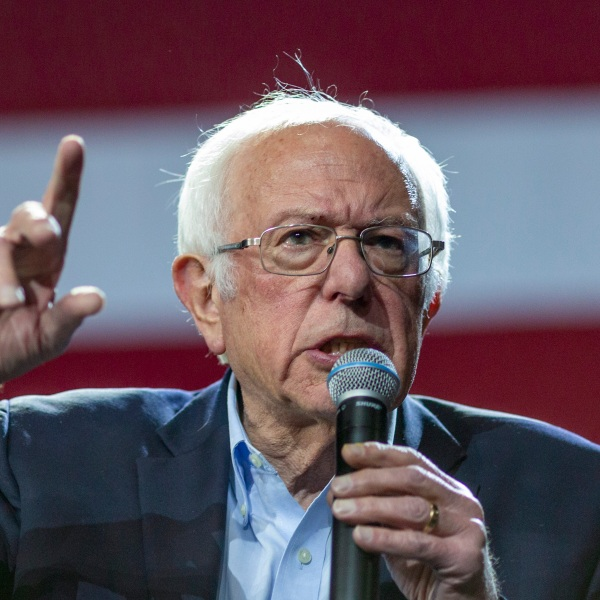 Presidential candidate Sen. Bernie Sanders holds a campaign rally at the Los Angeles Convention Center on March 1, 2020 in Los Angeles, California. (David McNew/Getty Images)