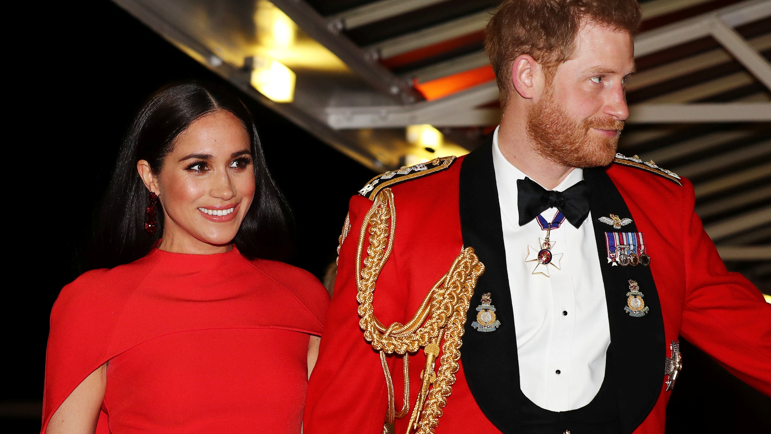 Britain's Prince Harry, Duke of Sussex and Meghan, Duchess of Sussex attend The Mountbatten Festival of Music at the Royal Albert Hall in London on March 7, 2020. (Simon Dawson/POOL/AFP via Getty Images)