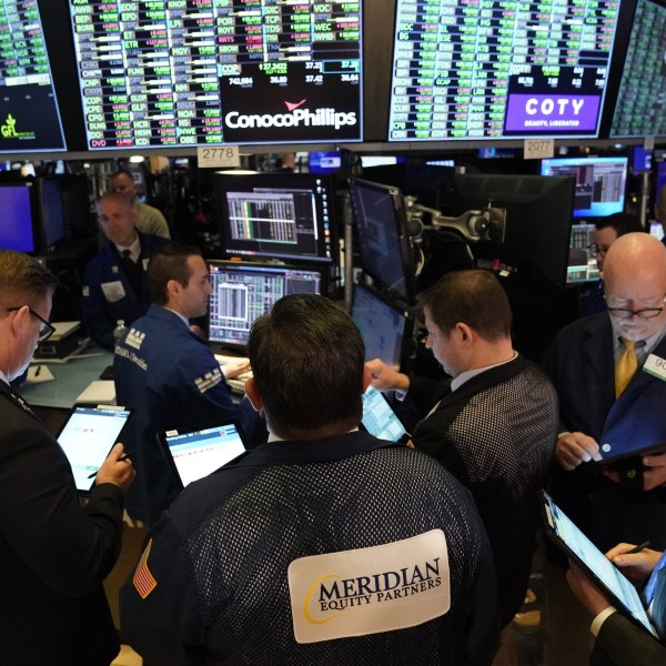Traders work on the floor of the New York Stock Exchange during the opening bell on March 10, 2020 in New York. (TIMOTHY A. CLARY/AFP via Getty Images)