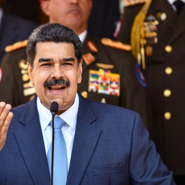President of Venezuela Nicolas Maduro speaks during a press conference at Miraflores Government Palace on March 12, 2020, in Caracas, Venezuela. (Carolina Cabral/Getty Images)