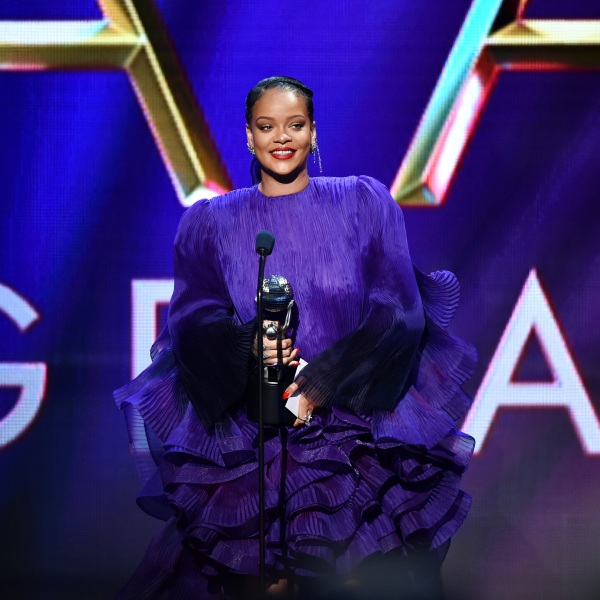 Rihanna accepts the President's Award on stage during the 51st NAACP Image Awards, Presented by BET, at the Pasadena Civic Auditorium on Feb. 22, 2020. (Aaron J. Thornton/Getty Images for BET)
