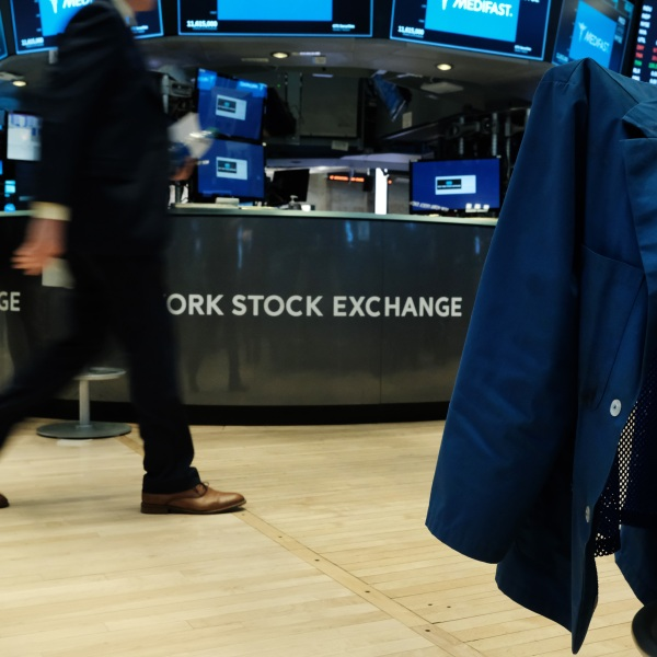 Traders work on the floor of the New York Stock Exchange on March 02, 2020, in New York City. (Spencer Platt/Getty Images)