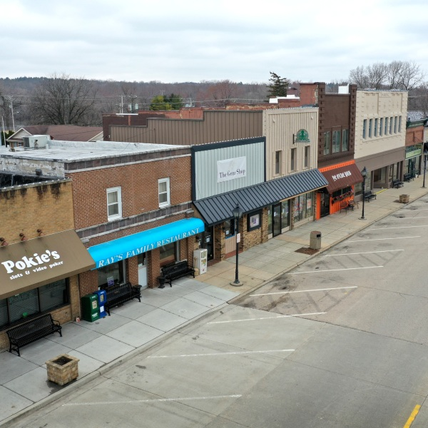A normally busy Main Street is deserted as the small businesses that line the business district remain closed after the governor instituted a shelter-in-place order in an attempt to curtail the spread of the coronavirus (COVID-19) on March 24, 2020 in Rockton, Ill. (Scott Olson/Getty Images)