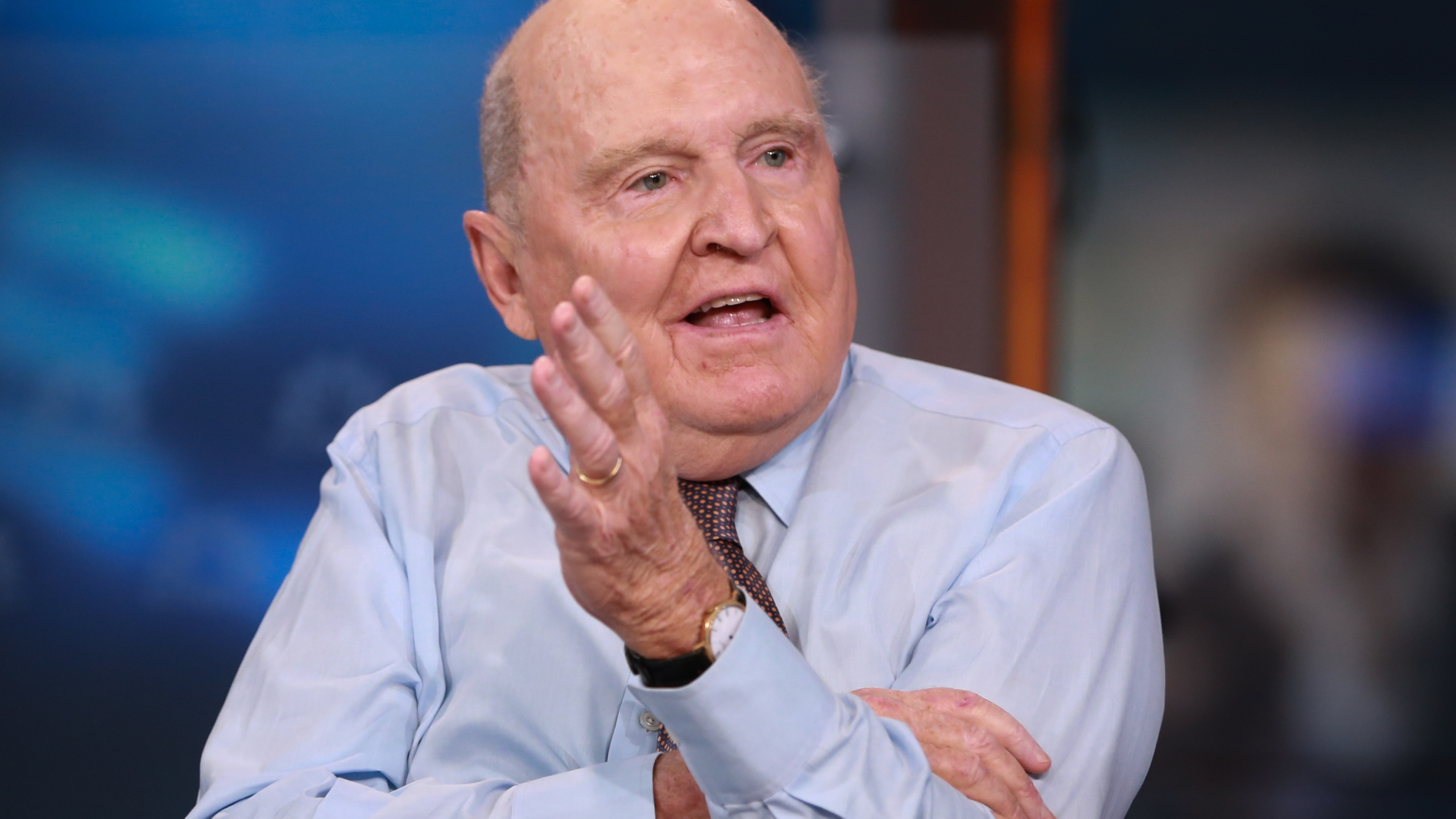 Jack Welch, former chairman and CEO of General Electric, appears in an interview on Sept. 24, 2015 (David Orrell/CNBC/NBCU Photo Bank/NBCUniversal via Getty Images)