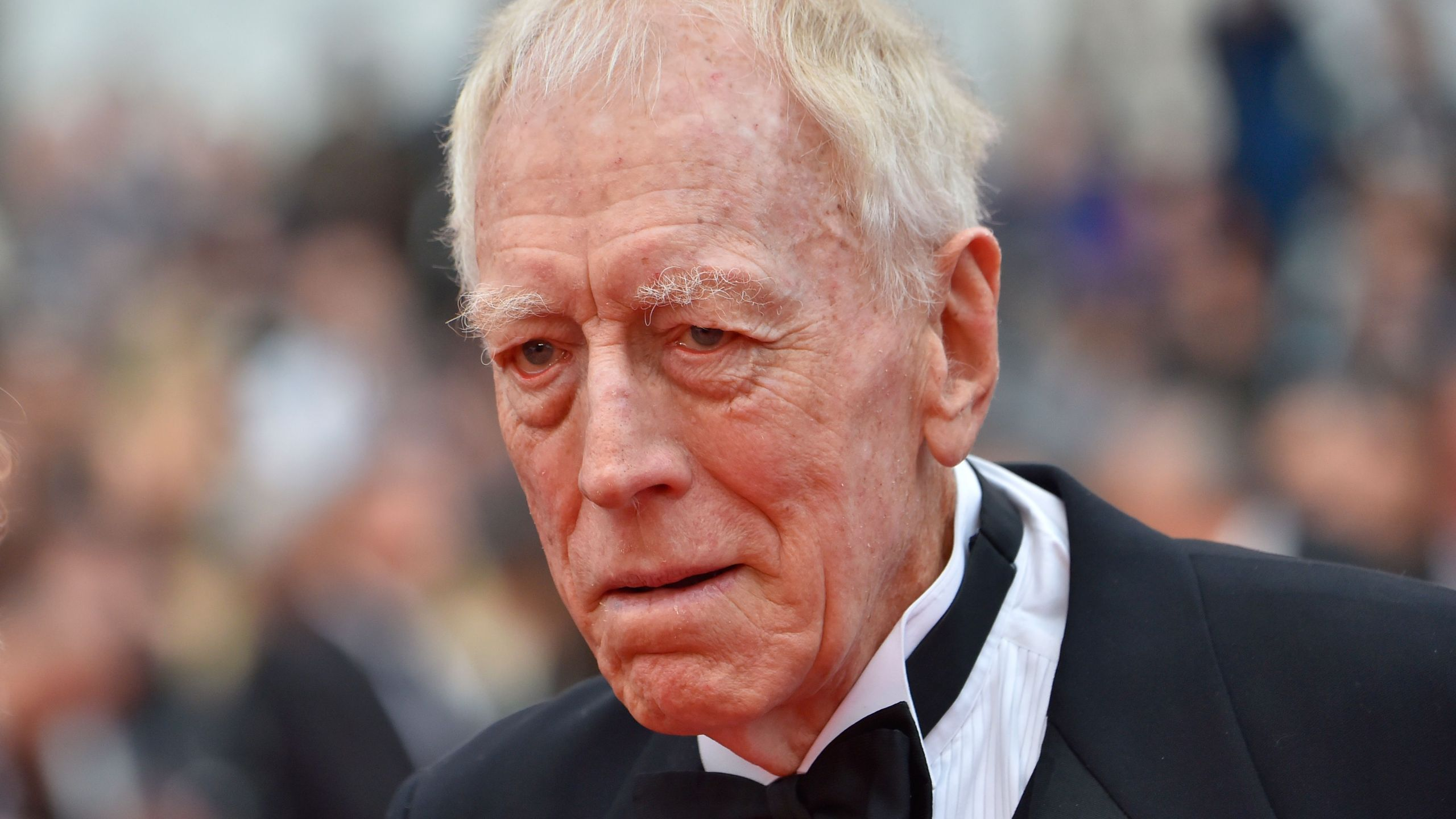 "Max von Sydow arrives for the screening of the film ""The BFG"" at the 69th Cannes Film Festival in Cannes, southern France on May 14, 2016. (LOIC VENANCE/AFP via Getty Images)"