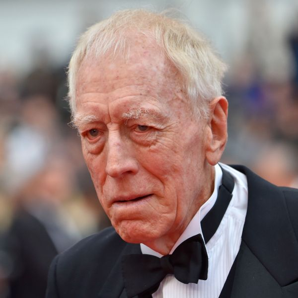 """Max von Sydow arrives for the screening of the film """"The BFG"""" at the 69th Cannes Film Festival in Cannes, southern France on May 14, 2016. (LOIC VENANCE/AFP via Getty Images)"""