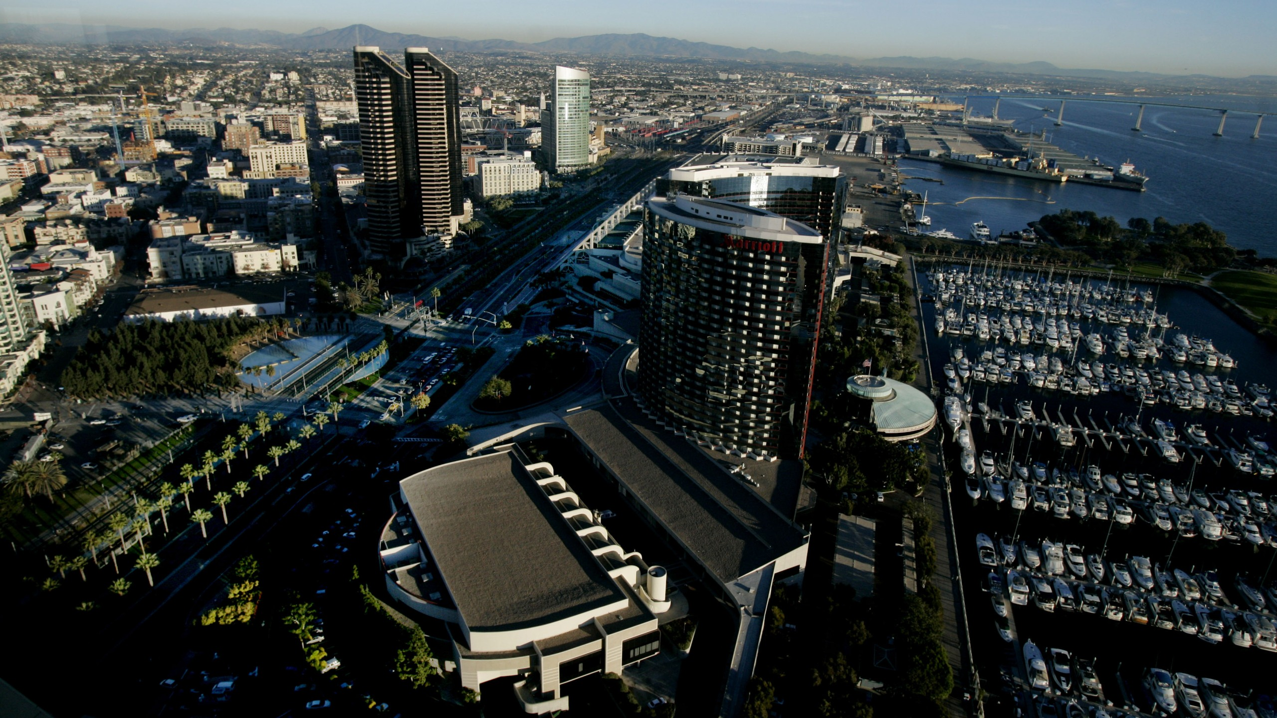 Downtown San Diego is seen in a photo from Dec. 6, 2005. (Sandy Huffaker/Getty Images)
