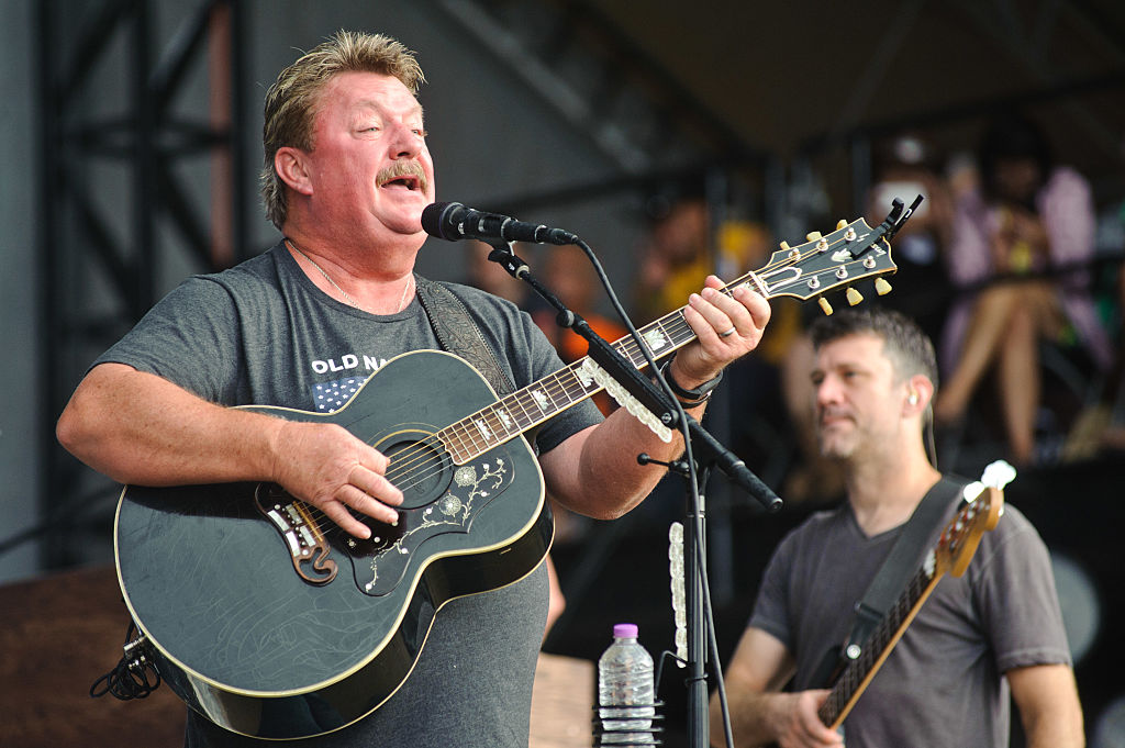 Joe Diffie performs on Day 3 of Country Thunder Milwaukee on July 23, 2016, in Twin Lakes, Wisconsin. (Timothy Hiatt/Getty Images for Country Thunder)
