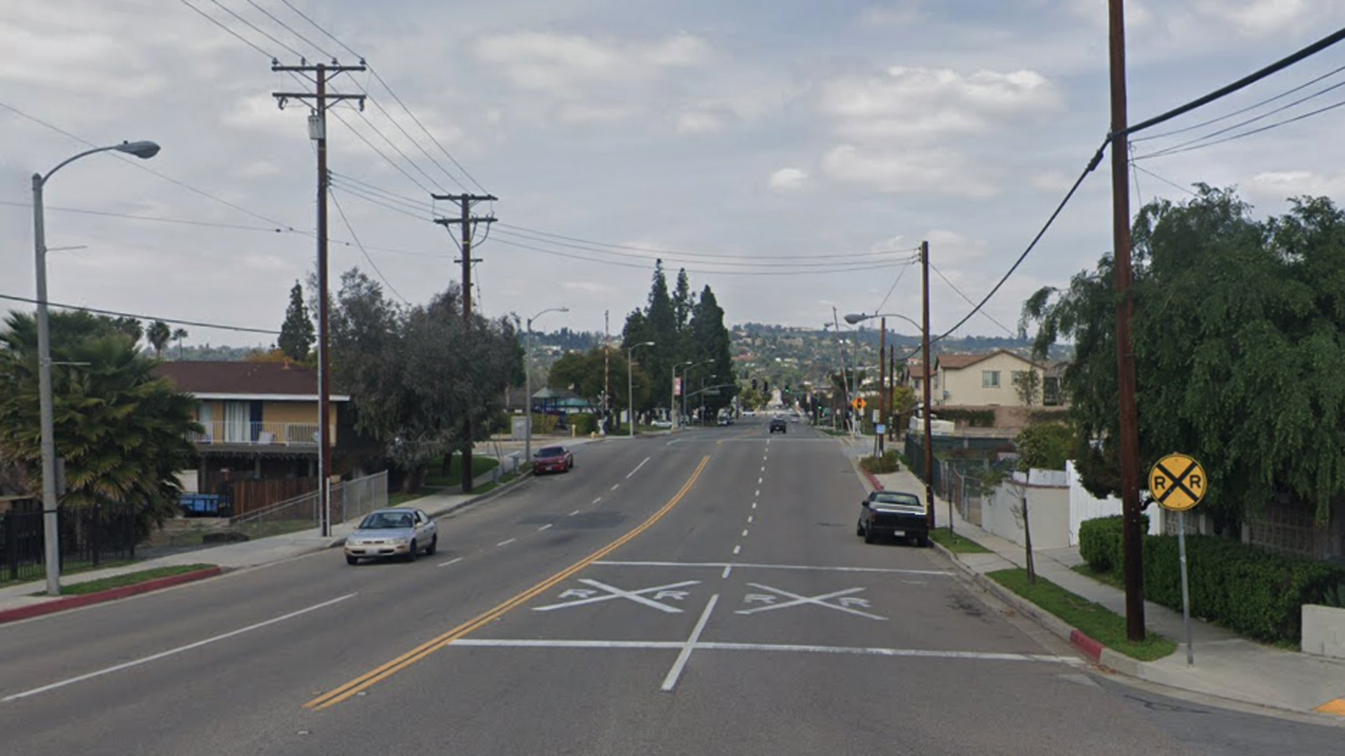 The 500 block of South Euclid Street in La Habra, as pictured in a Google Street View image.