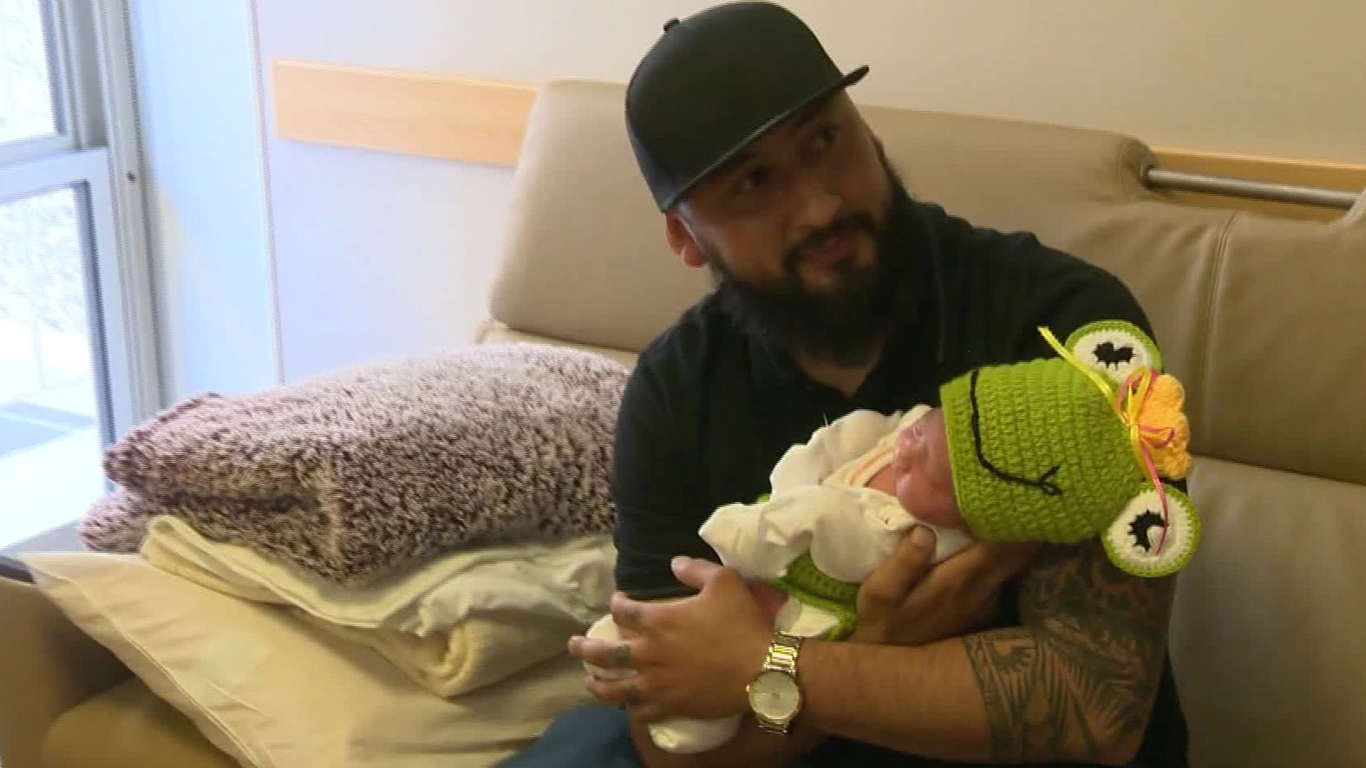 Baby Camila was born at a Sacramento-area hospital on Feb. 29, giving her the same birthday as her father Ivan Peñaloza. (KCRA)