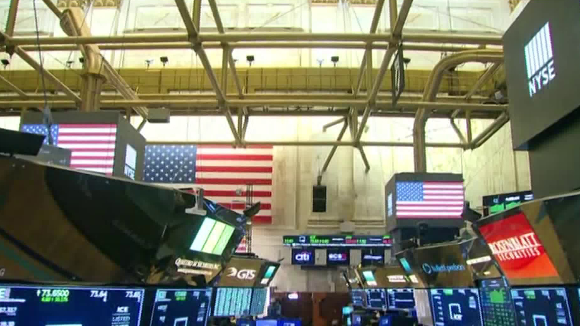 The New York Stock Exchange floor is shown on March 24, 2020. (CNN)