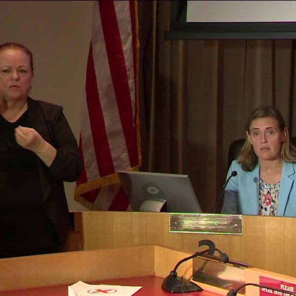 OC Health Care Agency officer Dr. NicholeQuick speaks at a news conference on March 27, 2020. (KTLA)