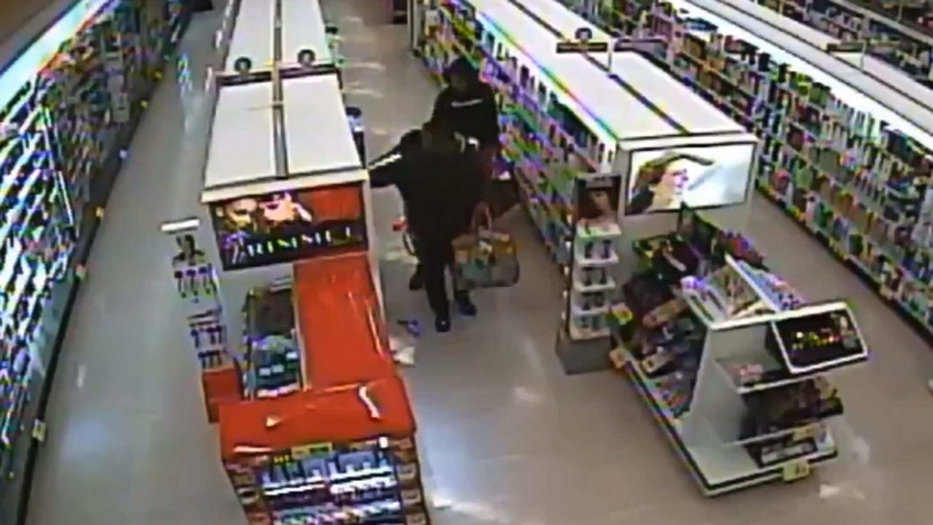 Yucaipa police released surveillance video of the theft at Rite Aid on March 6, 2020.