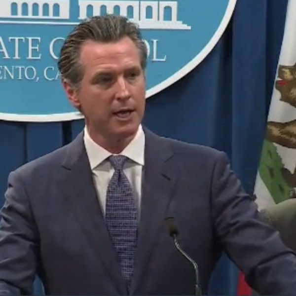 Gov. Gavin Newsom announces that he has declared a state of emergency over the coronavirus threat on March 4, 2020. (CNN)