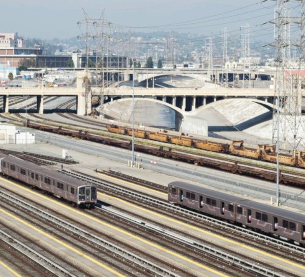 The Metro rail system is seen in Los Angeles in this image that appears on the agency's website in March 2020.