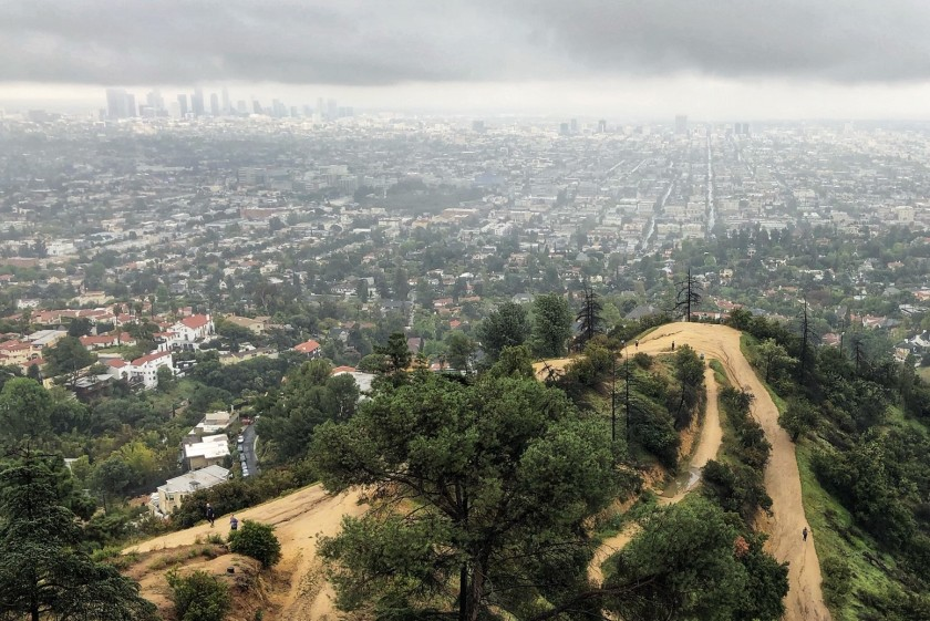 The trails of Griffith Park remain open. But virtually all park facilities are closed as of March 18, 2020.(Christopher Reynolds / Los Angeles Times)