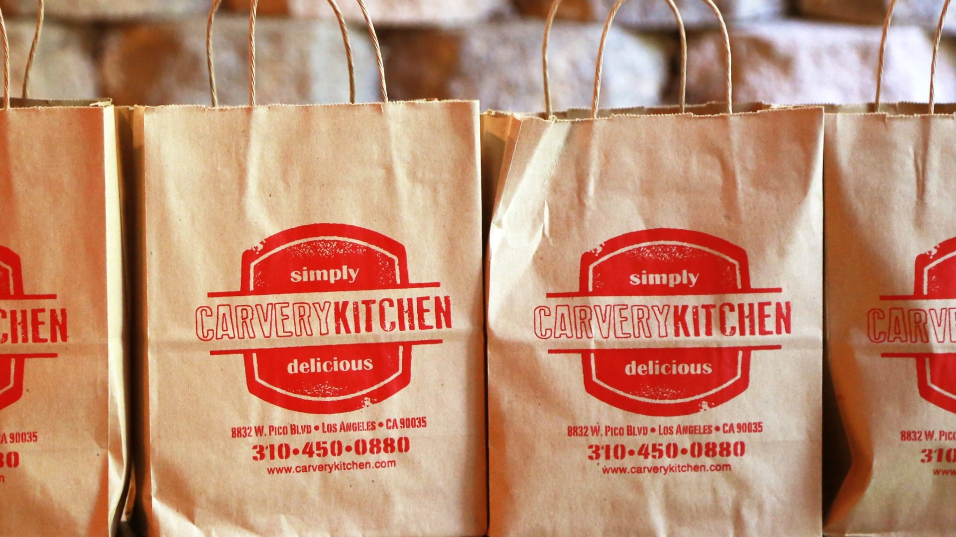 Carvery Kitchen take out bags are seen in an image posted to the restaurant's Facebook page.