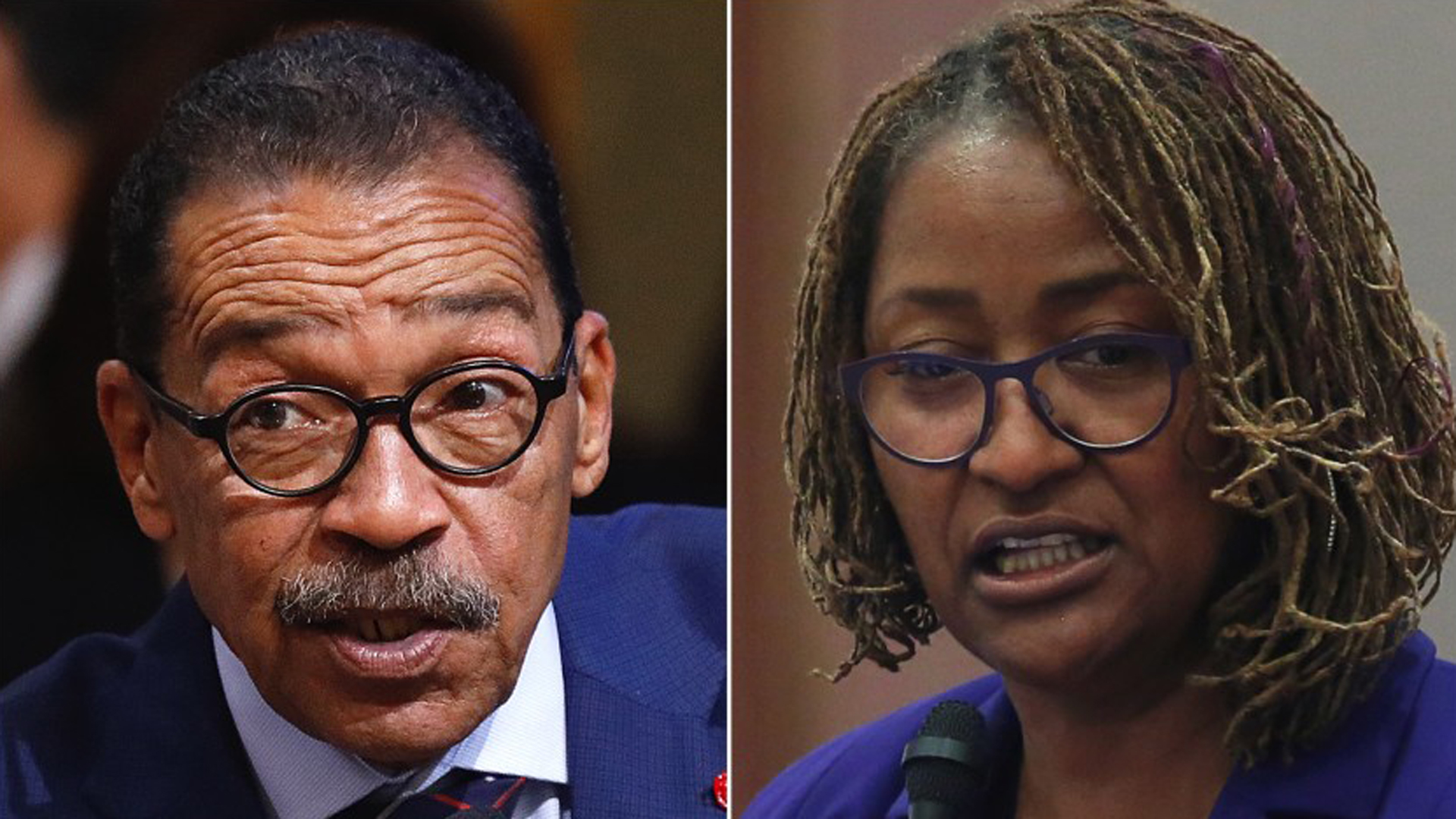From left: Herb Wesson and Holly Mitchell are seen in undated photos. (Credit: Los Angeles Times)